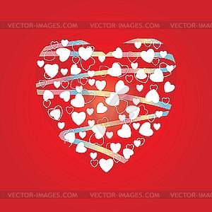 Herz - farbige Vektorgrafik