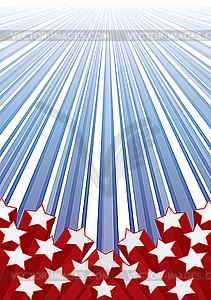 Hintergrund mit Elementen der USA-Flagge - Vektor-Abbildung