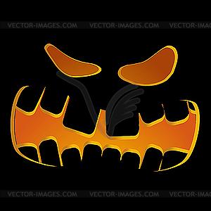 Halloween Kürbis - farbige Vektorgrafik