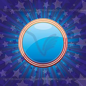 Hintergrund mit Elementen der USA-Flagge - Vektorgrafik