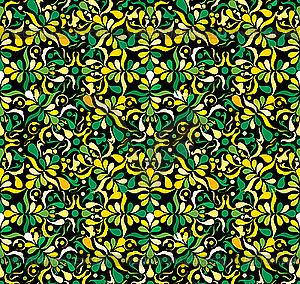 Gelbe und grüne nahtlose Texture - Vektorgrafik-Design