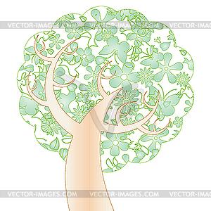 Grüner Frühling-Baum - Vector Clip Art