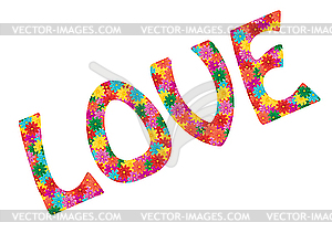 Liebe von Blumen - Vektor-Clipart / Vektorgrafik