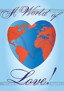 Liebe-Planete in Herzform - Vektor-Abbildung
