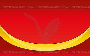 Gelber Band auf rotem Hintergrund - Vector-Bild