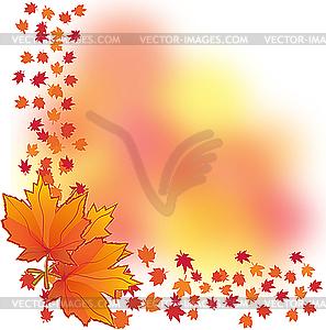 Hintergrund mit Herbstblätter - Vector-Clipart / Vektor-Bild