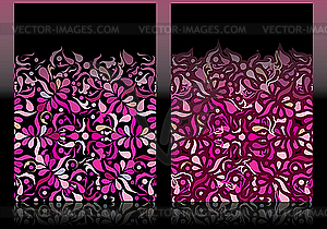 Rosige Visitenkarten - Vektor-Clipart / Vektorgrafik