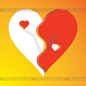 Liebe als Yin Yang - Vector-Design
