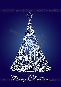 Blaue Weihnachtskarte - Vektor-Clipart / Vektorgrafik