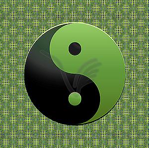 Grünes Ying-Yang Zeichen - Vektor-Klipart