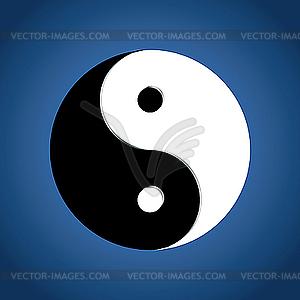 Yin Yan Zeichen - Vector-Illustration