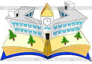 Buch und Schule - Vektor-Illustration