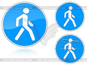 Fußweg - Verkehrszeichen - vektorisiertes Bild