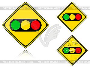 Ampeln - Verkehrszeichen - Stock-Clipart