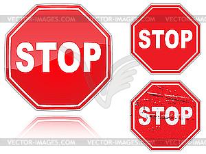 Stop-Verkehrszeichen - Vector-Clipart