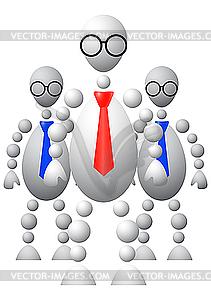 Gruppe von drei mans in Krawatten - Vector Clip Art