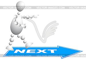 Man geht zum nächsten Schritt - vektorisiertes Clipart
