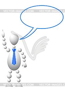 Mann mit leerer Sprechblase - Vector-Illustration
