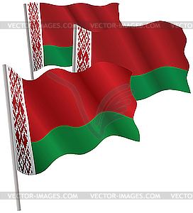 Weißrussland Flagge 3D - Stock-Clipart