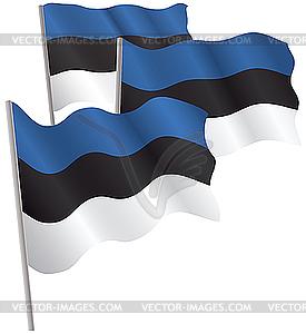 Estland Flagge 3D. - Vector Clip Art