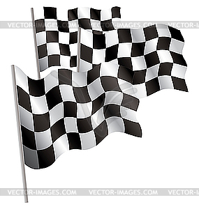 Racing 3d-Flagge. - Stock-Clipart