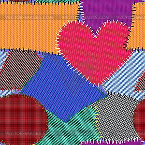 Bunter Textilie-Hintergrund - Vektor-Clipart EPS