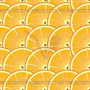 Hintergrund mit Orangenscheiben - Vektor-Clipart / Vektorgrafik