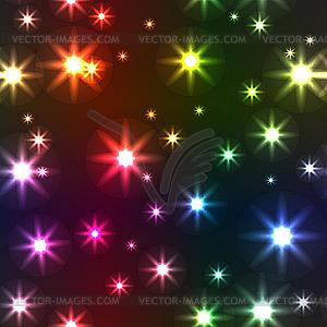 Hintergrund mit bunten Sterne - Klipart
