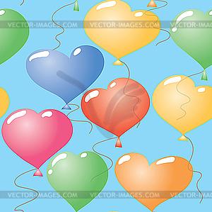 Valentinstag abstrakter nahtloser Hintergrund - vektorisierte Abbildung