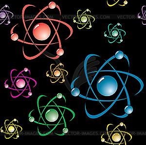 Hintergrund mit dem Symbol des Atoms - Clipart