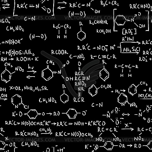 Chemische Formeln - Vektor-Skizze