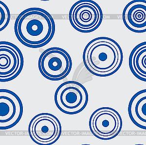 Blauer Hintergrund mit Ringe - Vektorabbildung