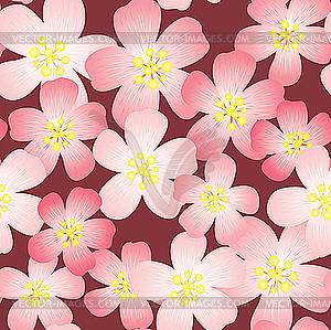 Hintergrund mit Kirsch-Blumen - Vector-Abbildung