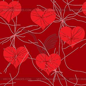 Nahtloses Valentinstag-Hintergrund - Vector-Bild