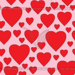 Nahtloses Valentinstag-Hintergrund - Stock Vektor-Clipart