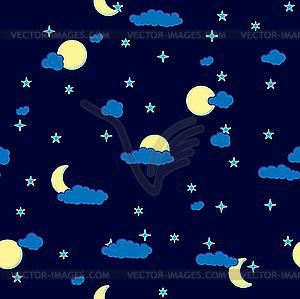 Nacht-Hintergrund mit Wolken - Vektor-Design