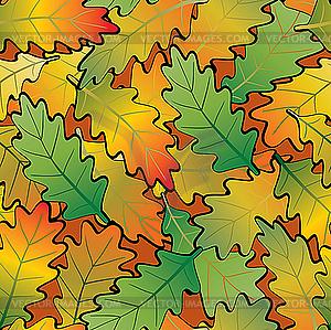 Eiche-Herbstblätter  - Vector-Bild