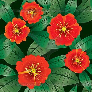 Blumen-Hintergrund. - Vektorgrafik