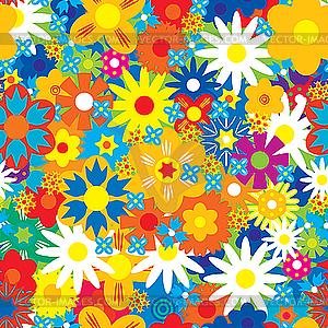 Blumen-Hintergrund - vektorisiertes Clip-Art