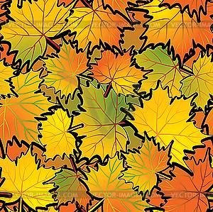 Ahornblätter im Herbst - Vector-Bild