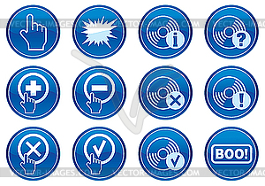 Icons für Gadget - Vector-Abbildung
