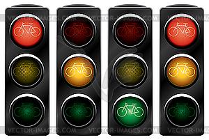 Ampel für Fahrräder. - Vektorgrafik-Design