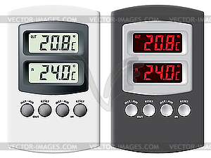 Elektronisches Thermometer. - Vektor-Design