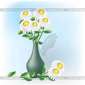 Blumenstrauß mit Kamillen - Vektor-Klipart