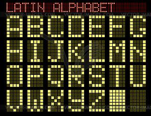 Алфавит индикатор клипарт в формате