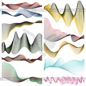 Farbige lineare Streifen - Vektor-Bild