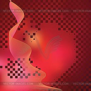 Abstrakter roter Huntergrund mit Fliesen - Vektor-Abbildung