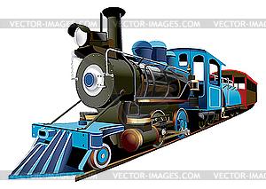 Dampflokomotive Express - vektorisiertes Bild