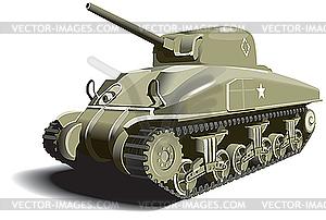 Amerikanischer Panzer - Vektorgrafik
