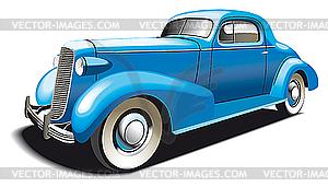 Blaues altes Auto - Clipart